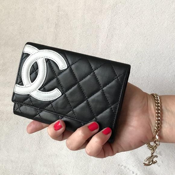 bdb8b96d1bc6 CHANEL Handbags - Chanel Cambon Ligne Black Leather CC Flap Wallet